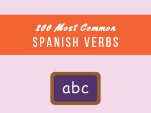 Common Spanish Verbs