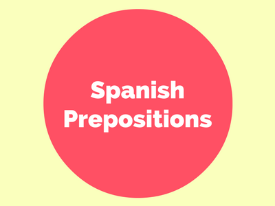 Spanish prepositions pinterest