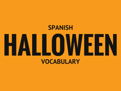 Spanish Halloween Vocabulary