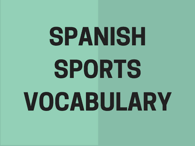 Spanish Sports vocabulary